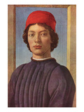 Portrait of a Young Man with Red Cap Poster von Sandro Botticelli