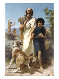 Homer and His Guide Prints by William Adolphe Bouguereau