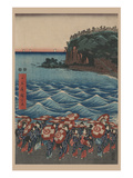 Opening Celebration of Benzaiten Shrine at Enoshima in Soshu Print by Ando Hiroshige