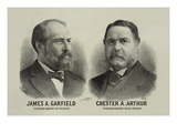 James A. Garfield and Chester A. Arthur - Republican Candidates for President and Vice President Premium Giclee Print by  Seer's Lithograph Co