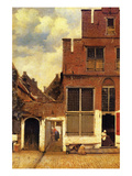 The Little Street Poster par Johannes Vermeer