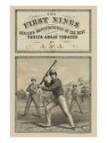 Tobacco Label First Nines Segars Print by  Heppenheimer