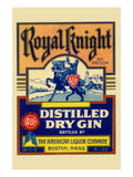 Royal Knight Distilled Dry Gin Posters