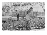 Homegrown Food Is Homegrown Wealth. Print by Dorothea Lange