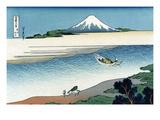 Tama River in Musashi Province Kunstdrucke von Katsushika Hokusai