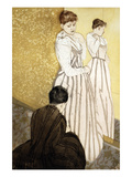 The Fitting Print by Mary Cassatt