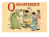 Q - Quartered It Print by Kate Greenaway