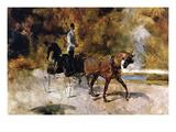 The One Horse Carraige Lámina giclée prémium por Henri de Toulouse-Lautrec