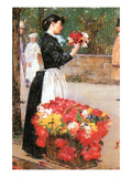 Flower Girl Poster by Childe Hassam
