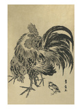 Hen and Chick Prints by Toyohiro Utagawa