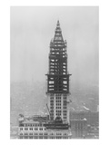 The Woolworth Building under Construction Art