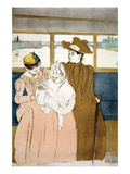 In the Omnibus Prints by Mary Cassatt
