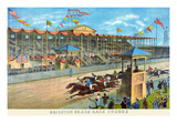 Brighton Beach Race Course Prints by  New York Lithograph Co