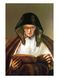 Old Woman, Reading Posters by  Rembrandt van Rijn