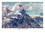 African American Unit, the 54th Massachusetts Overruns Fort Wagner Konst