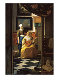 The Love Letter Posters by Johannes Vermeer