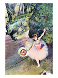 Edgar Degas - Dancer with a Bouquet of Flowers (The Star of the Ballet) - Reprodüksiyon