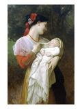 Maternal Admiration Affiches par William Adolphe Bouguereau