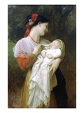 Maternal Admiration Premium Giclee Print by William Adolphe Bouguereau