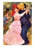 Dance in Bougival (Detail) Kunstdrucke von Pierre-Auguste Renoir
