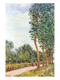 Banks of the Loing in Moret Prints by Alfred Sisley