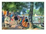 La Grenouillere Poster af Pierre-Auguste Renoir
