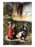 Lot's Escape Premium Giclee Print by Albrecht Dürer