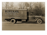 "Kingan's ""Reliable"" Hams and Bacon, Fresh Pork and Beef Delivery Truck Poster"