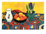 Still Life with Hyacinthe Giclee-tryk i høj kvalitet af Auguste Macke