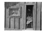 Saw Mill Worker's Wife and Baby Poster by Dorothea Lange