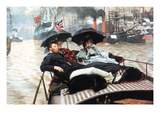 The Thames Premium Giclee Print by James Tissot