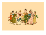 Dancing around in a Circle Poster by Kate Greenaway