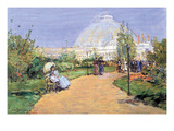 House of Gardens, World's Columbian Exposition, Chicago Print by Childe Hassam