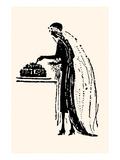 Bride Cuts Her Wedding Cake Affiches par Maxfield Parrish