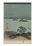 Evening View of Eight Famous Sites at Kanazawa in Musashi Province (Uyokanazawa Hassshoyakei) No.1 Premium Giclee Print by Ando Hiroshige