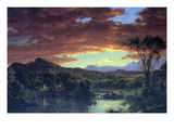 A Rural Home Prints by Frederic Edwin Church