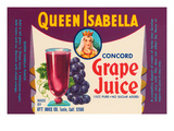 Queen Isabella Concord Grape Juice Poster