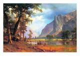 Yosemite Valley Premium Giclée-tryk af Albert Bierstadt