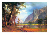 Yosemite Valley Poster von Albert Bierstadt