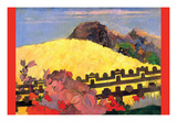 There Is the Temple Premium Giclee Print by Paul Gauguin