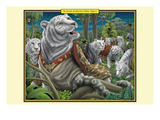 A Streak of Siberian White Tigers Print by Richard Kelly