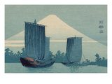 Sailboats and Mount Fuji. Prints by Uehara Konen