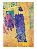 Jane Avril Leaves the Moulin Rouge Pster por Henri de Toulouse-Lautrec