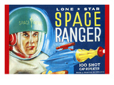 Lone Star Space Ranger 100 Shot Cap Repeater Art
