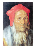 Portrait of a Bearded Man with Red Cap Poster by Albrecht Dürer
