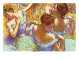 Dancer in Blue Art by Edgar Degas