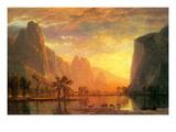 Valley in Yosemite Plakater af Albert Bierstadt