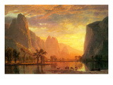 Valley in Yosemite Posters by Albert Bierstadt