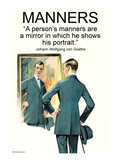 Manners Prints by Wilbur Pierce