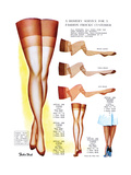 A Hosiery Service for Fashion Frocks' Customer Premium Giclee Print by  Fashion Frocks